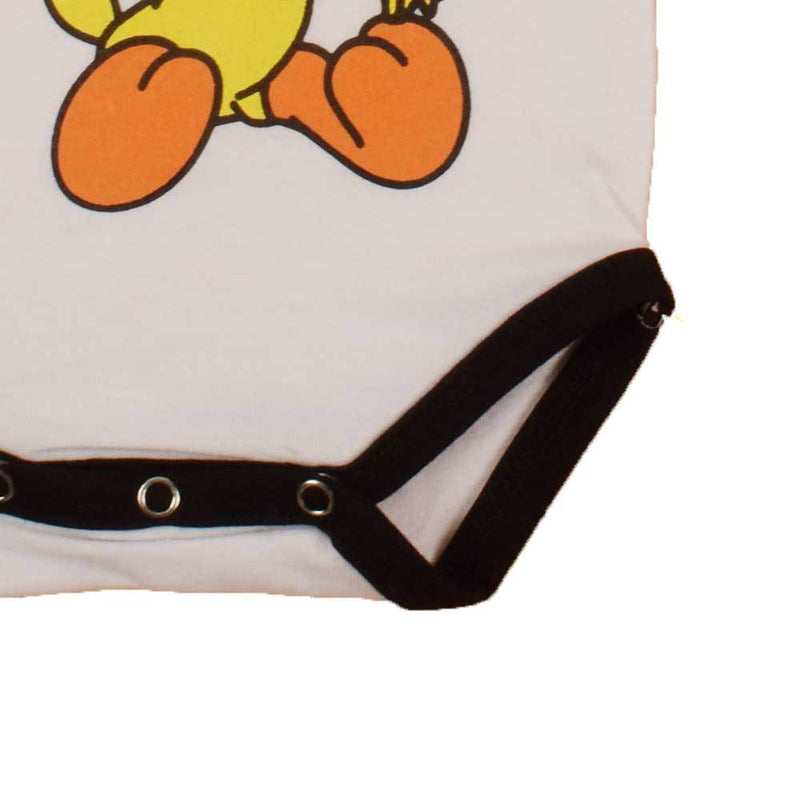 Polo Republica Kid's Tweety Short Sleeve Romper Babywear Polo Republica White Black 0-3 Months