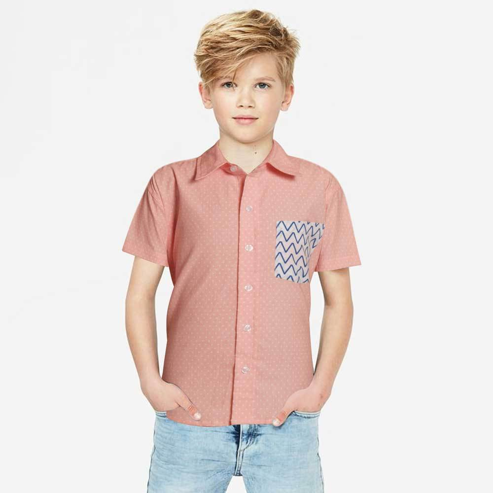 Kid's Bestrew Short Sleeve Casual Shirt Boy's Casual Shirt MHJ 2-3 Years