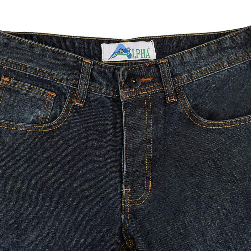 Alpha Men's Comfortable Straight Fit Denim Men's Denim First Choice Navy 28 30