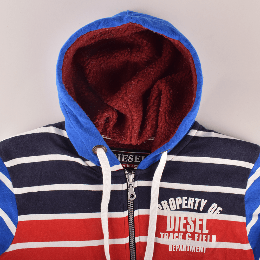 Diesel Ireland Authentic Attire Classic Edition Sherpa Lined Zipper Hoodie Men's Zipper Hoodie NMA