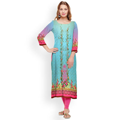 Digital Printed Watervliet Unstitched Lawn Kurti