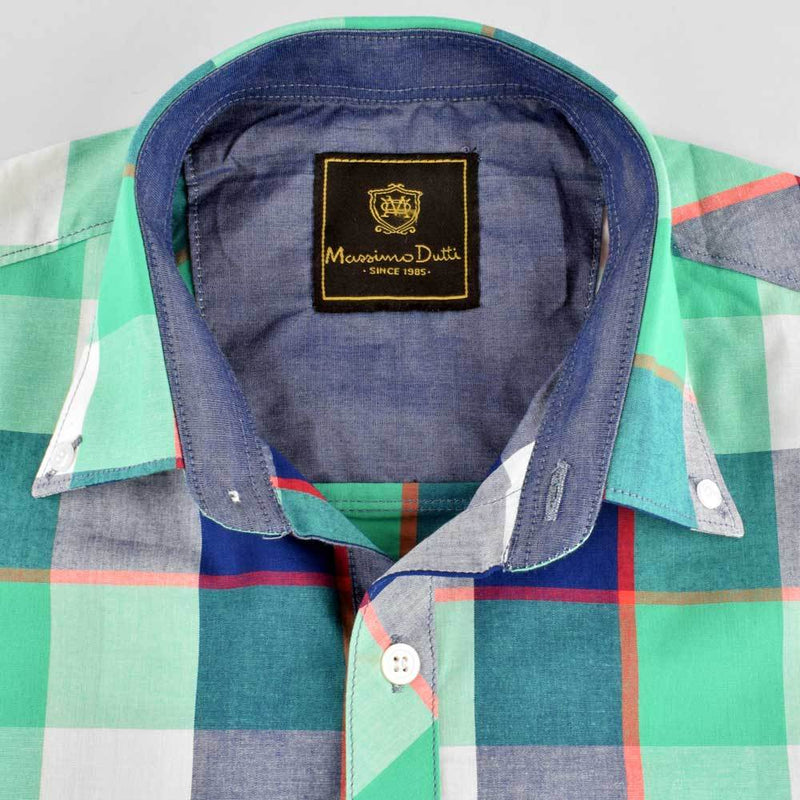 AHE Massimo Dutti Check Design Casual Shirt Men's Casual Shirt AHE M