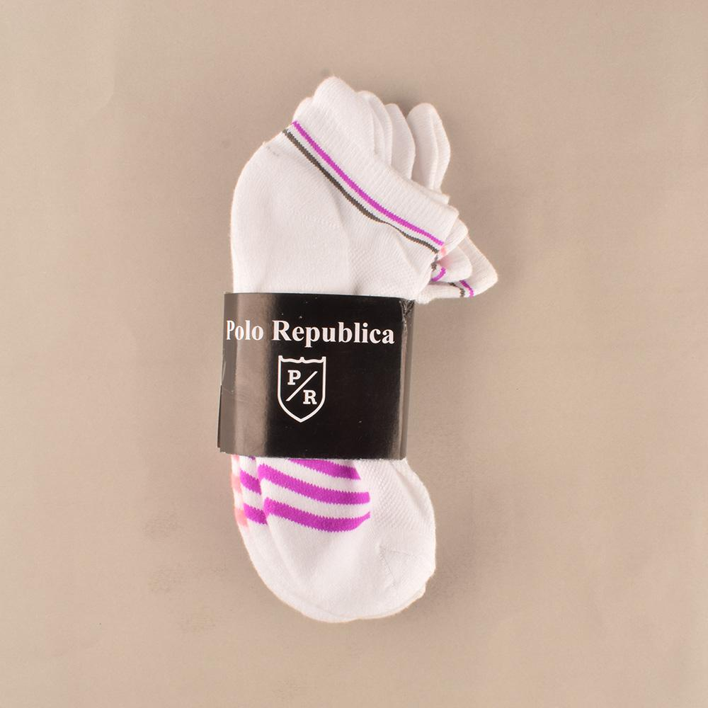 Polo Republica Women's Sports Pack of Three Anklets Socks Socks Mouzay