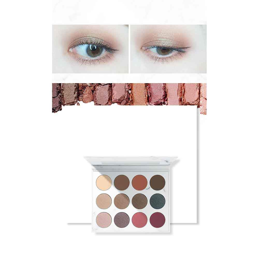 Senana 12-Colors Eyeshadow Palette Health & Beauty Sunshine China