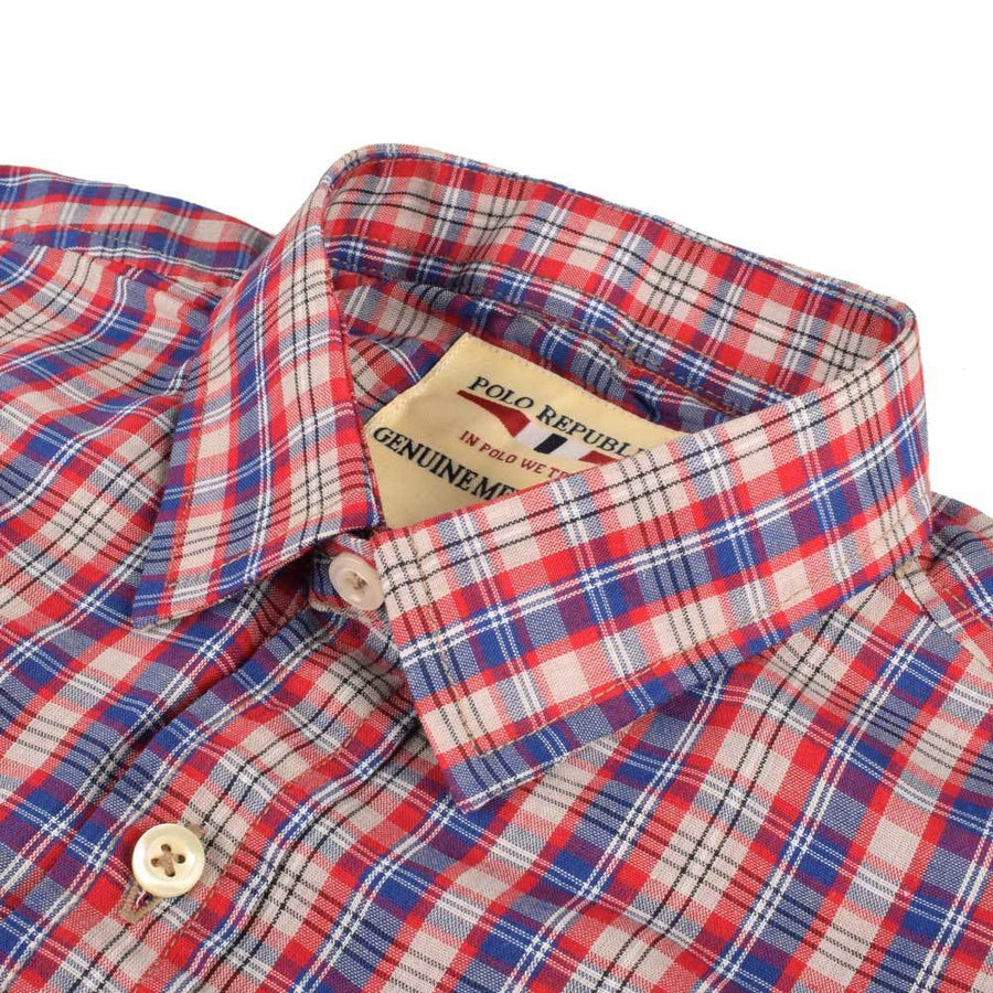 Polo Republica Derbent Check Design Kid's Casual Shirt