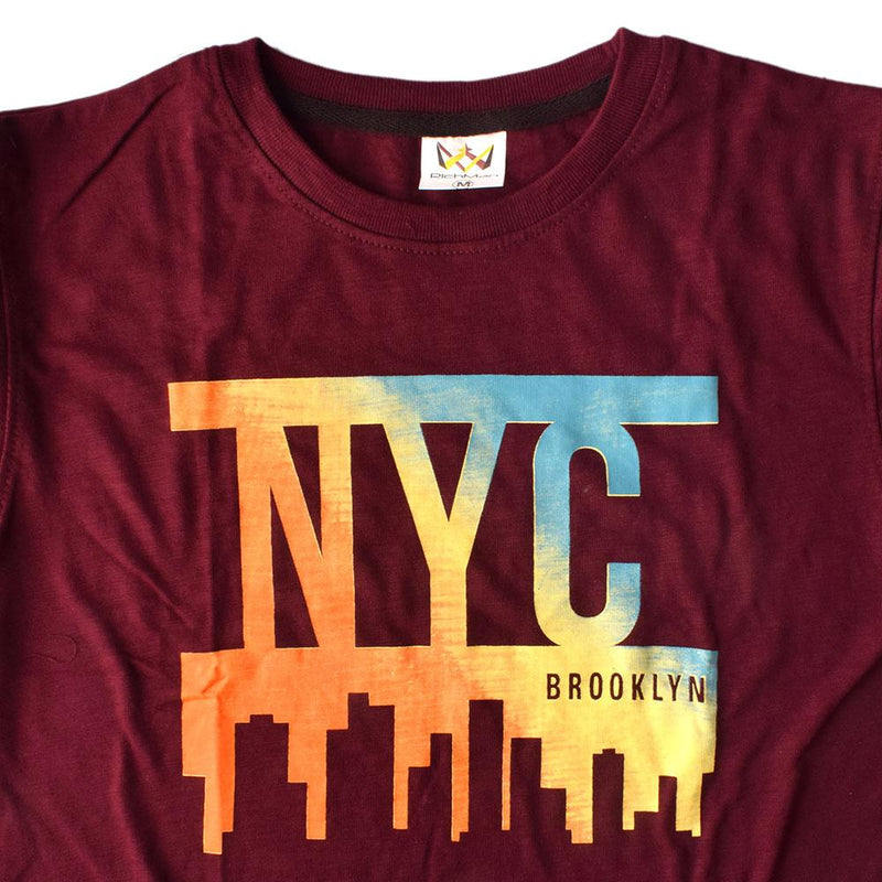 Rich Man NYC Brooklyn Men's Tee Shirt Men's Tee Shirt ASE Burgundy XS