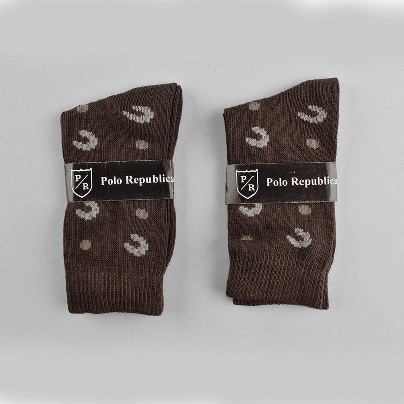 Polo Republica Kid's Delightful Style Pack of Two Crew Socks Socks RKI Dark Olive EUR 24-26