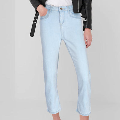 Plus Collection Women's Fashionable Straight Fit Denim Women's Denim SRK Sky 24 24