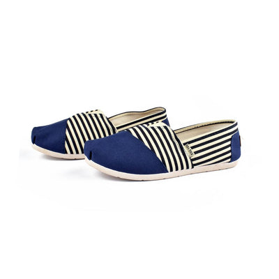 Xing Yan Stripes Design Women's Canvas Shoes Women's Shoes Sunshine China Blue EUR 35