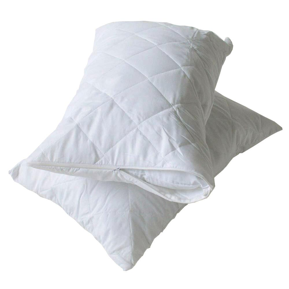 High Living Quilted Pack Of Two Pillow Protector Pillow Cover CWE