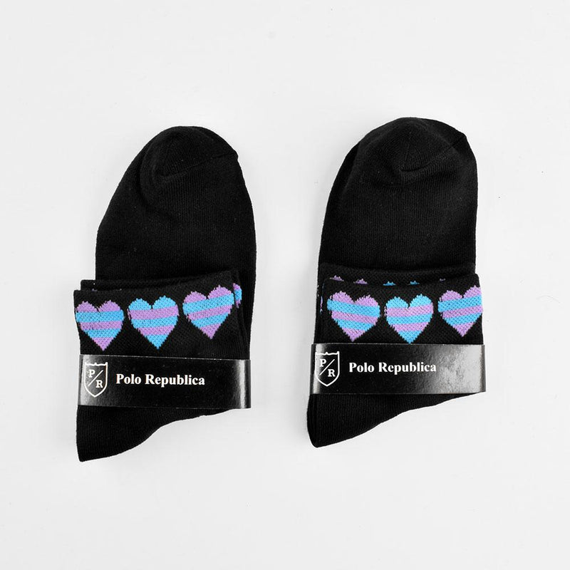 Polo Republica Women's Contrast Pack Of 2 Anklet Socks Socks RKI