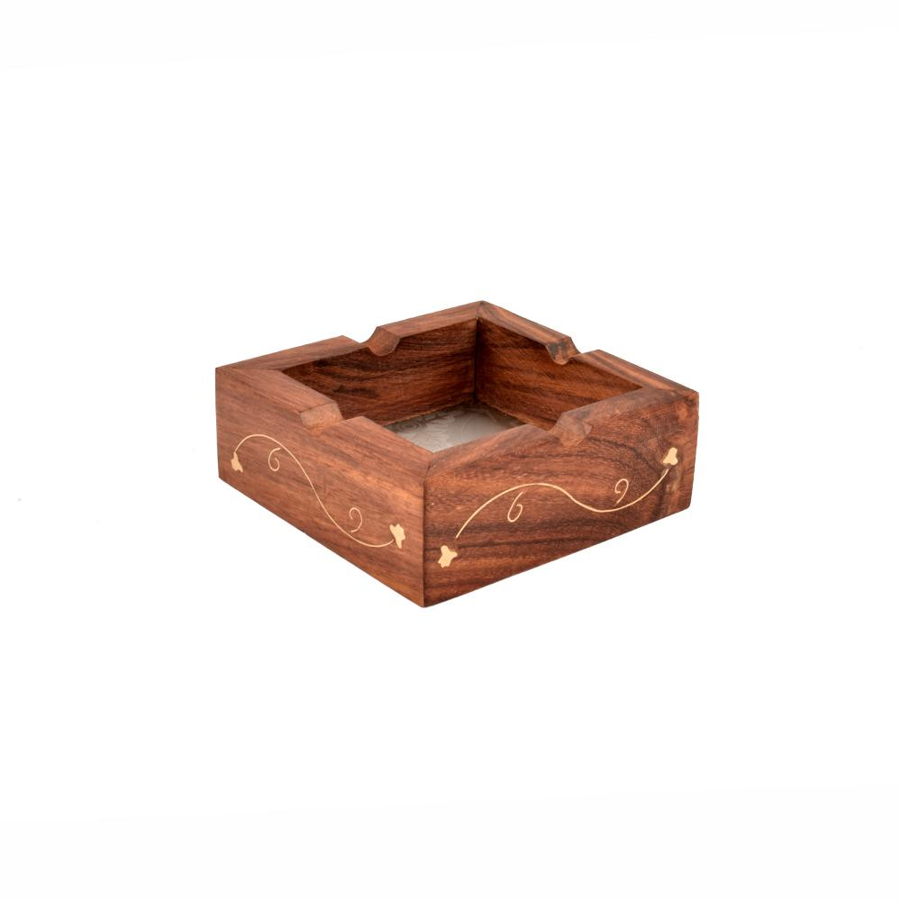 Sophisticated Design Wood Engraving Ashtray General Accessories SAK