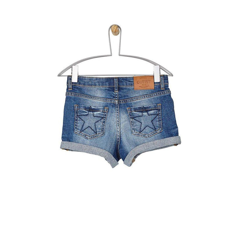 OTF Distressed Style Girls Denim Shorts