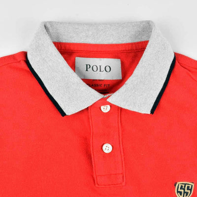 SS EST 1977 Men's Contrast Collar Polo Shirt Men's Polo Shirt First Choice