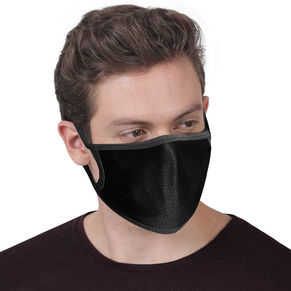 Polo Republica Anti Pollution / Smog Protection Washable Polyester Mesh Mask Face Mask Polo Republica With Polyester Mesh Pack of 1 Assorted