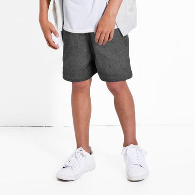 THRI Sports Boys Classic Shorts Boy's Shorts First Choice Charcoal 11-12 Years