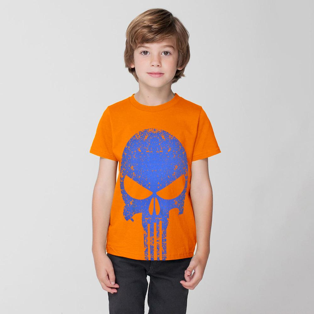 HM Skull Design Kid's Tee Shirt Boy's Tee Shirt First Choice Orange 2-3 Years