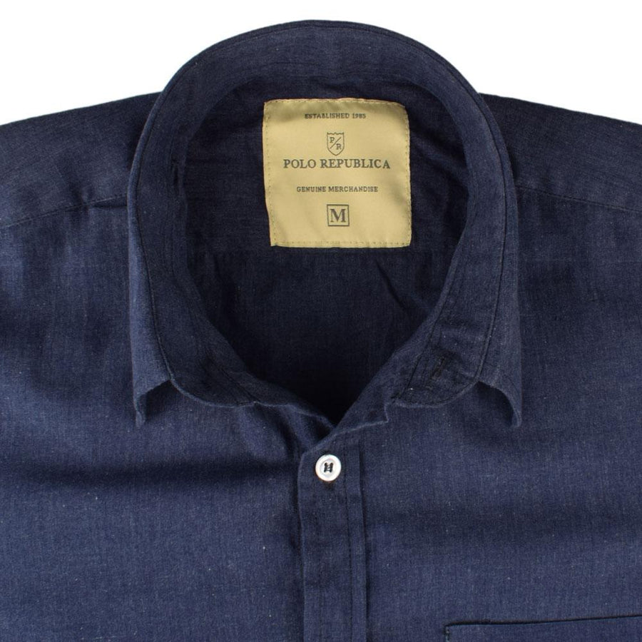 Polo Republica Aydıncık Chambray Solid Casual Shirt