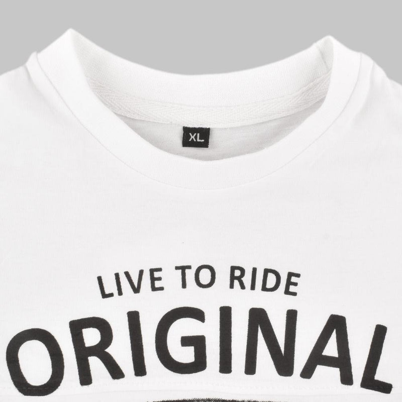 HM Live To Ride Original And Different Kid's Tee Shirt Boy's Tee Shirt First Choice White 2-3 Years