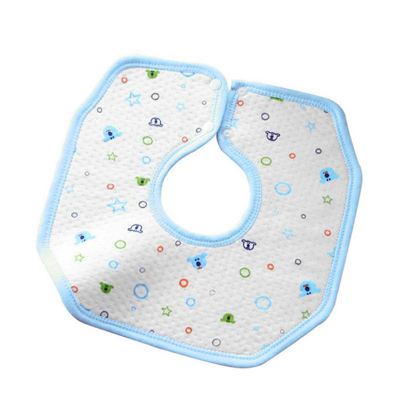 Cute Animal Printed 360 Degree Rotation Baby Bib Kid's Accessories Sunshine China White Sky Blue