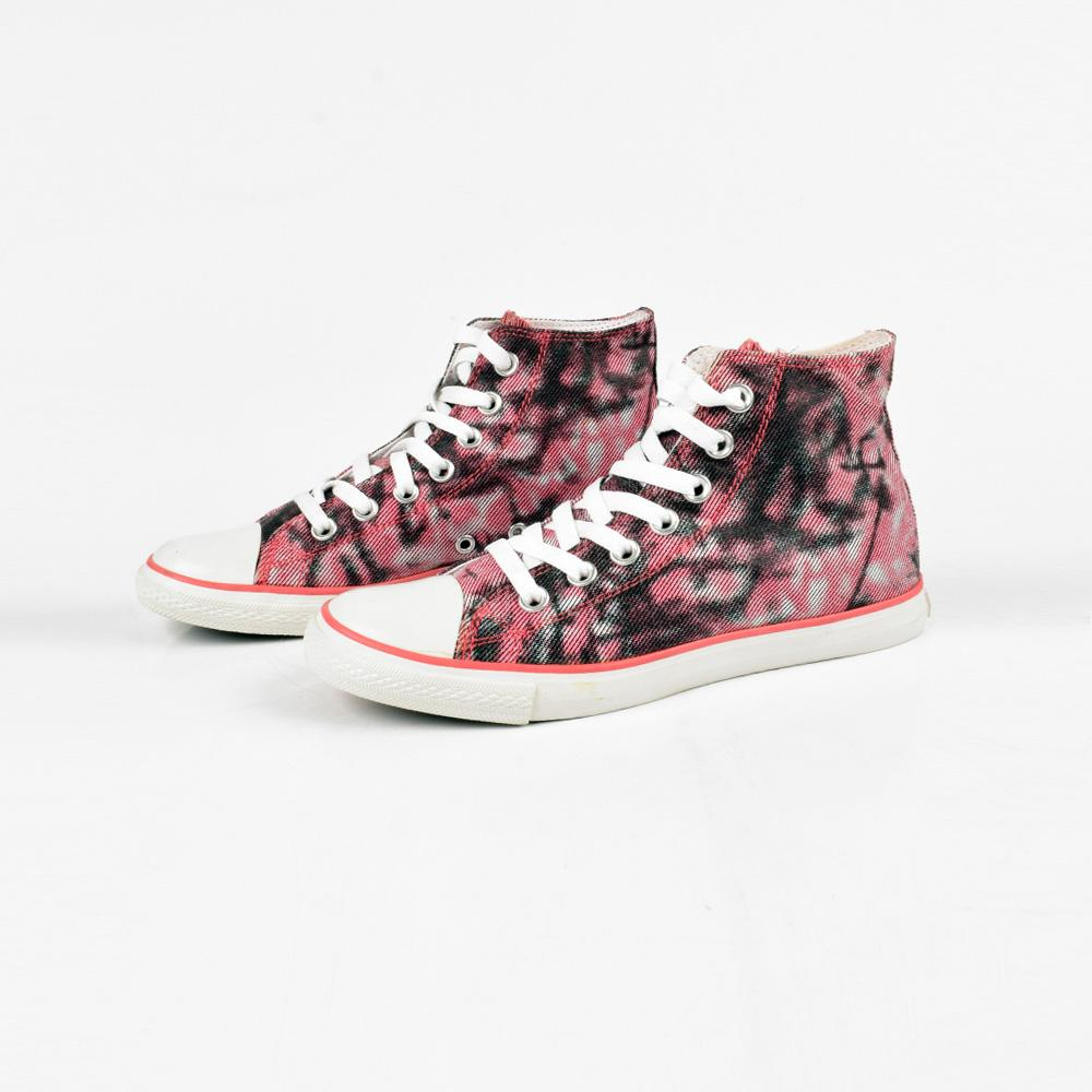 Baoda Women Chengde Ankle High Lace Up Canvas Shoes Women's Shoes AGZ Pink EUR 35