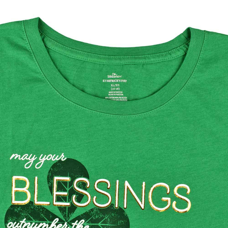 May Your Blessings Outnumber The Shamrocks Women's Tee Shirt Women's Tee Shirt First Choice Green S