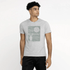LE Night Deer Tee Shirt Men's Tee Shirt Image Heather Grey S