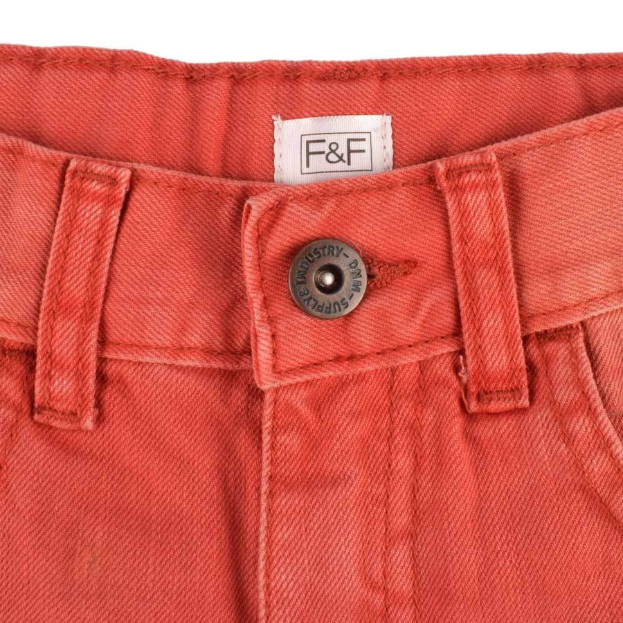 F&F Brick Red Wash Girls Denim Short
