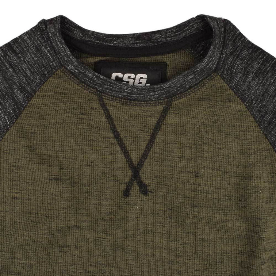 CSG Contrast Sleeves Thermal Tee Shirt