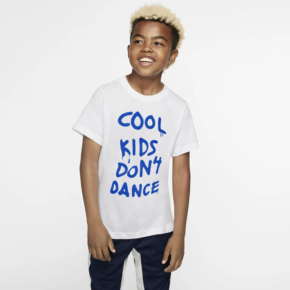 HM Cool Kid's Don't Dance Kid's Tee Shirt Boy's Tee Shirt First Choice White Royal 2-3 Years