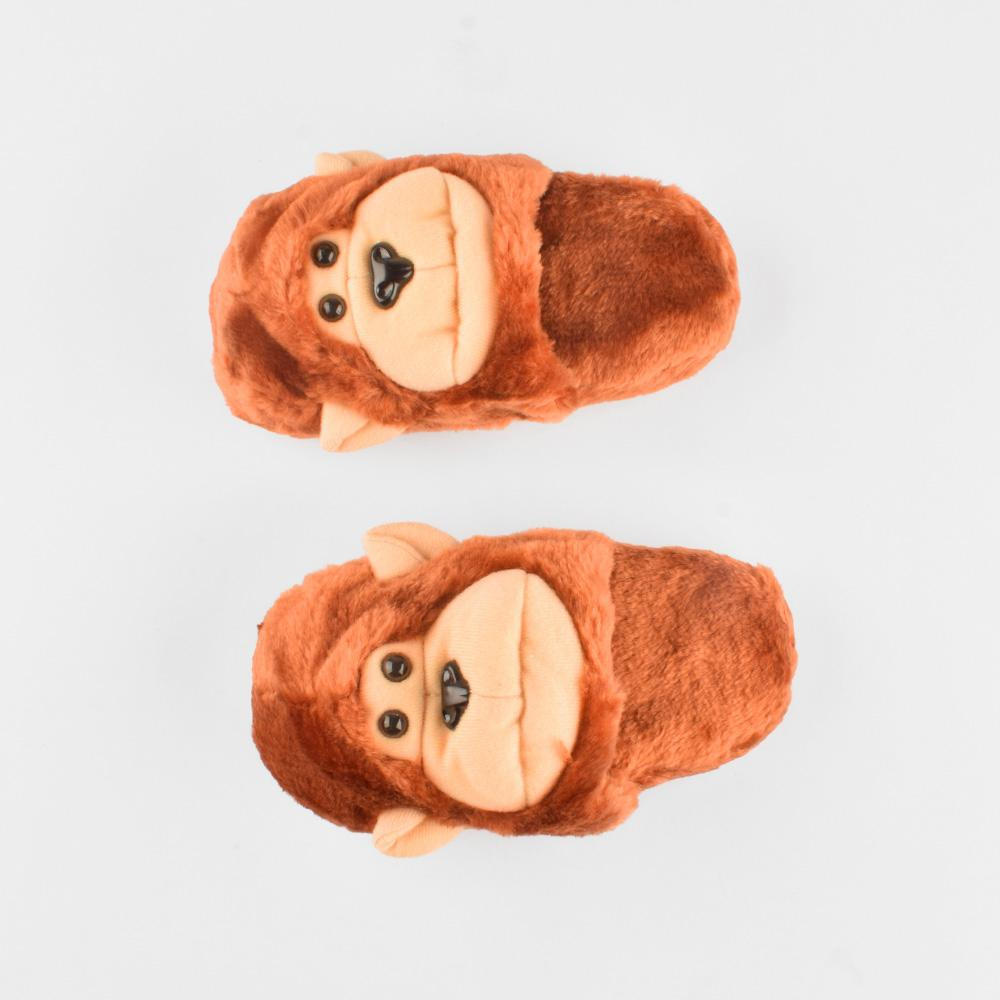 ANF Monkey Shape Plush Slippers Boy's Shoes ANF Brown EUR 22