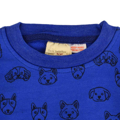 ZR Printed Bear Design Kids Terry Sweatshirt Boy's Sweat Shirt First Choice