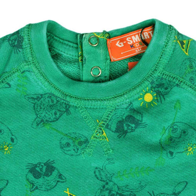 GA Printed Teddy Bear Kids Sweatshirt Boy's Sweat Shirt First Choice