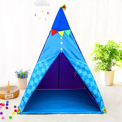 Happy Play Indoor And Outdoor Children's Tent Castle Play Tent Sunshine China Blue