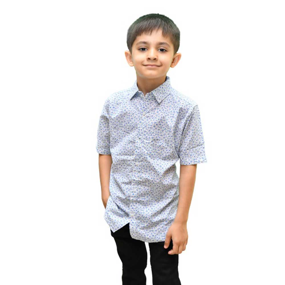SRT Boy's Delphinium Short Sleeve Casual Shirt Kid's Casual Shirt SRT 16 (2-3 Years)