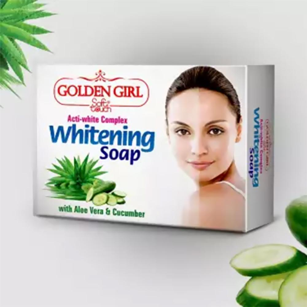 Golden Girl Soft Touch Whitening Soap With Aloe Vera & Cucumber