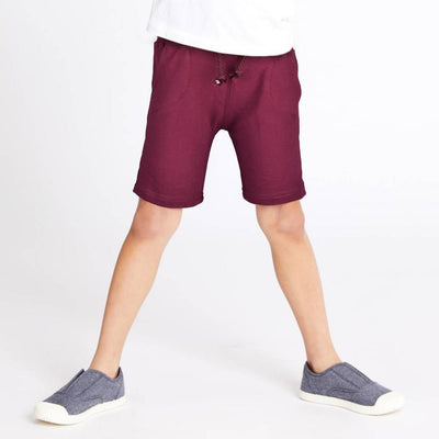 ZR Kid's Classic Solid Terry Shorts Kid's Shorts First Choice Burgundy 3-6 Months
