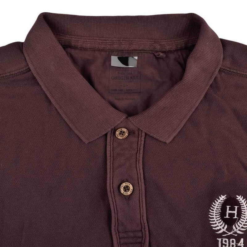 Odivelas Men's Cut Label Polo Shirt Men's Polo Shirt NMA Mid Burgundy White XS