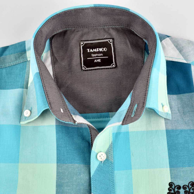 AHE Tampico Fashion Classic Check Design Casual Shirt Men's Casual Shirt AHE M