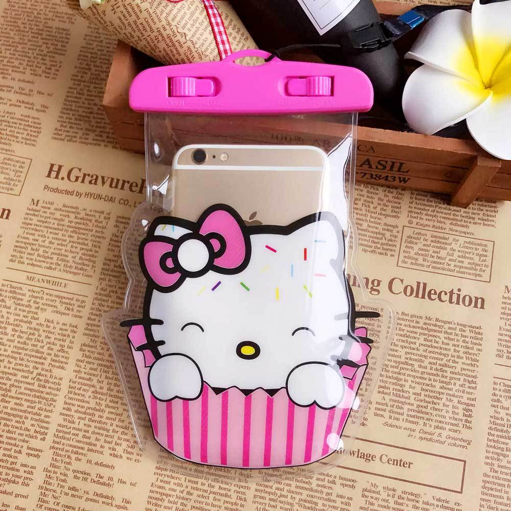 PVC Transparent Printed Waterproof Mobile Pouch Electronics Sunshine China Hello Kitty