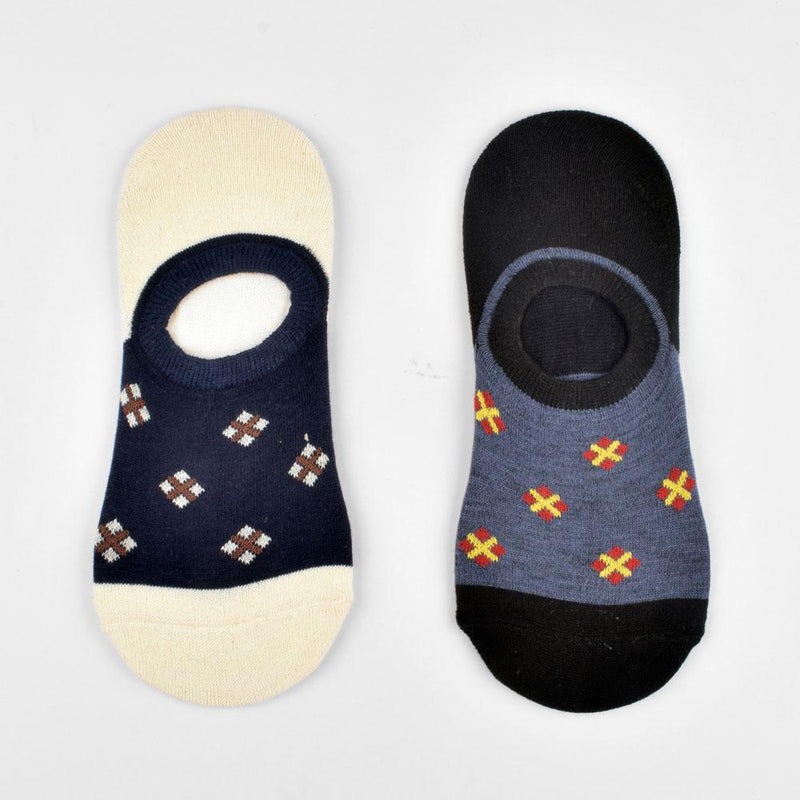 Polo Republica Pack of Two Luxurious No Show Y Heel Socks Socks Mouzay