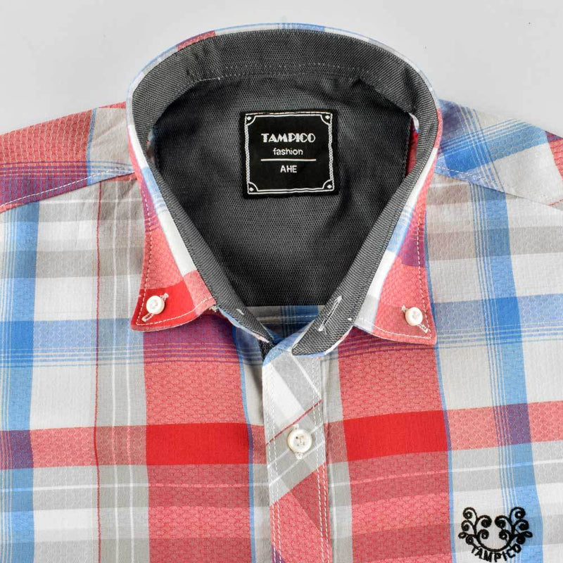 AHE Massimo Dutti Classic Check Design Casual Shirt Men's Casual Shirt AHE M
