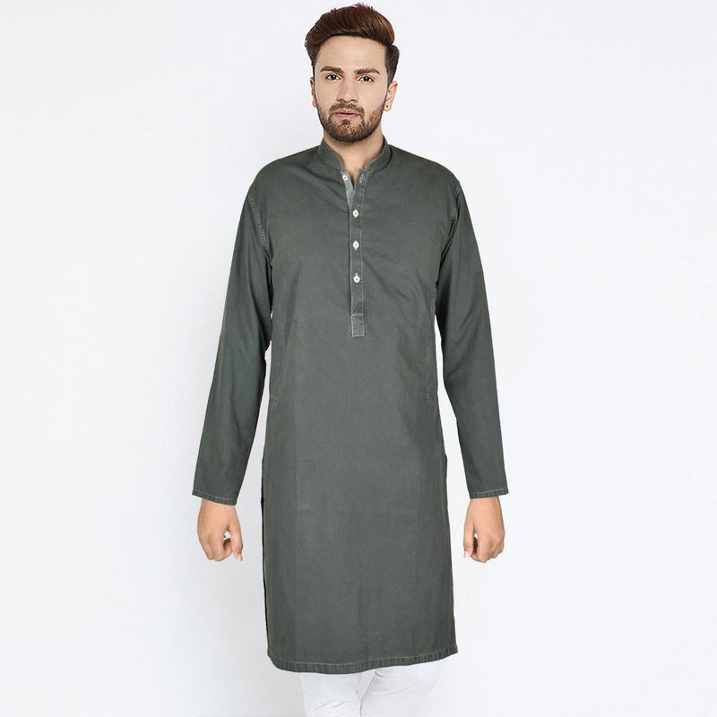 Polo Republica Men's Trendy Light Zink Kurta Men's Kurta MB Traders