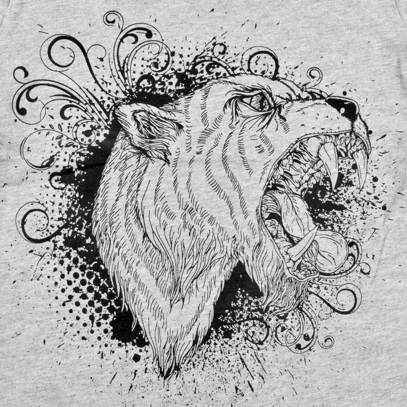 HM Lion Printed Kids Tee Shirt Boy's Tee Shirt First Choice Heather Grey 6-9 Months