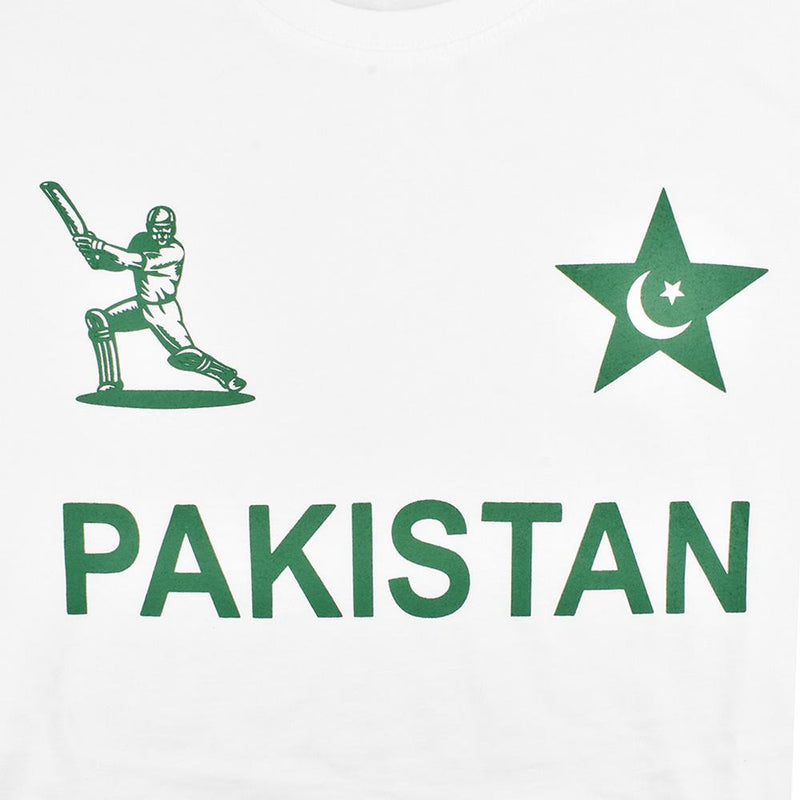 LE Pakistan Short Sleeve Crew Neck Tee Shirt Men's Tee Shirt Image White XS
