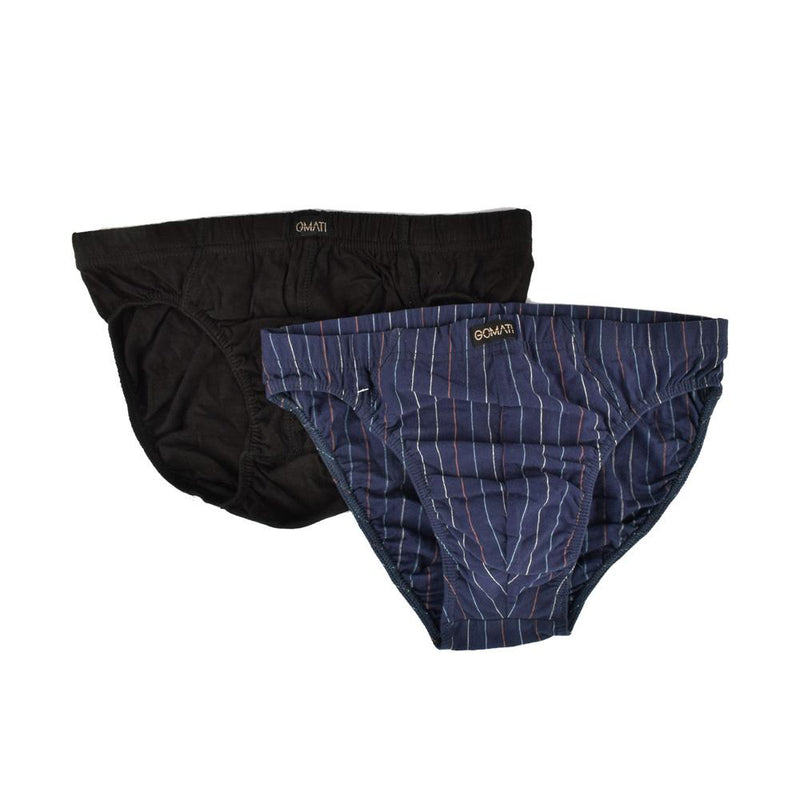 Gomati Pack Of Two Assorted Men's Brief Men's Underwear NMA