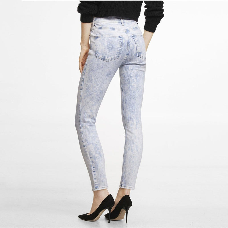 Express Women's Acid Wash Slim Fit Denim