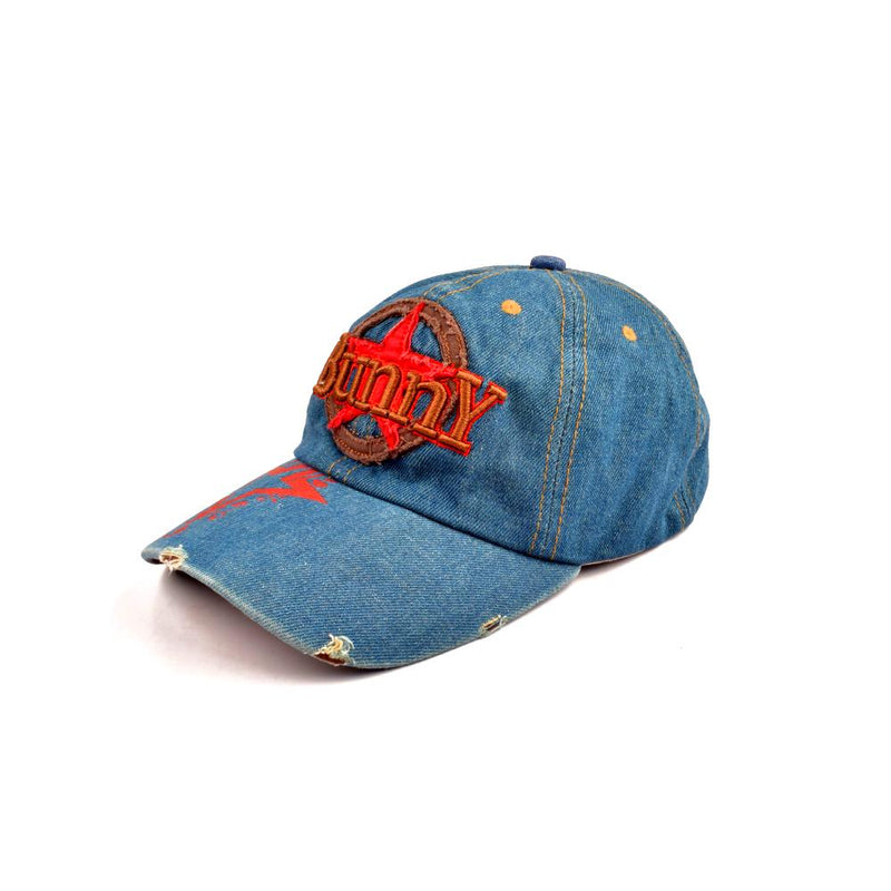 Bunny Estremoz Denim Embro P Cap Headwear CPUQ Denim Blue Red
