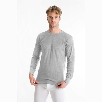 Viva Classic Long Sleeve Thermal Tee Shirt Men's Tee Shirt SNC Heather Grey 6