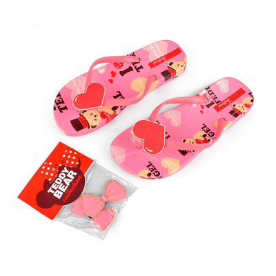 Women's Teddy Bear Collection I Love Teddy Flip Flop Women's Shoes Sunshine China